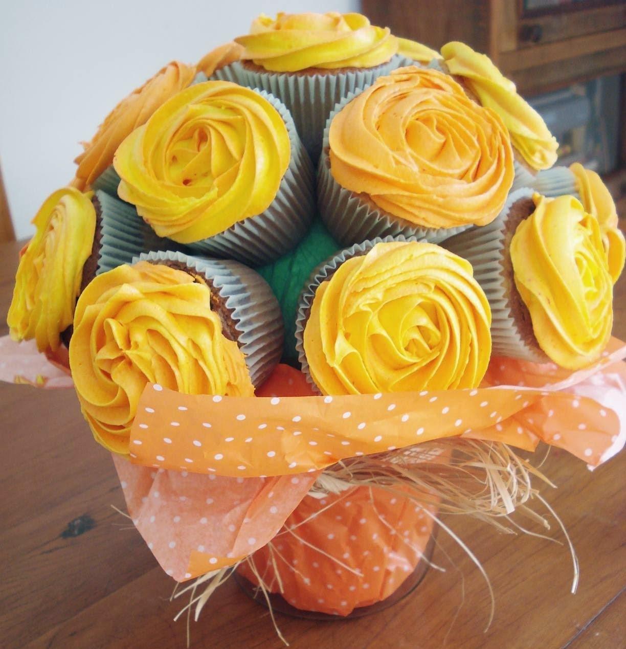 Buquê de Cupcakes para o Dia dos Namorados