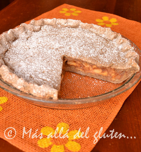 Pastel de Manzana y Quinua (Receta GFCFSF, Vegana)