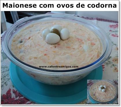 Maionese com ovos de codorna