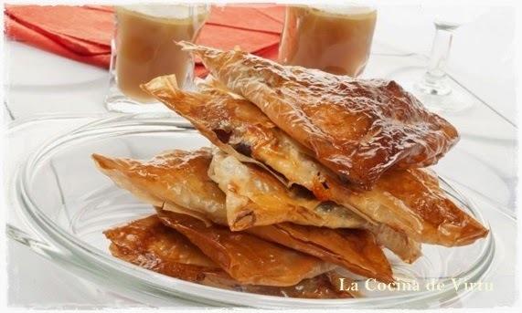 Pañuelos de Cecina y Queso en Pasta Filo