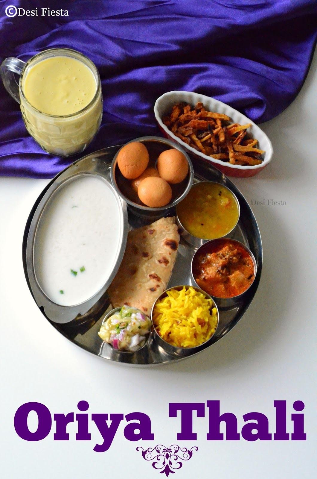 Oriya Thali |Orissa Cuisine