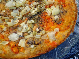 PIZZA INTEGRAL COM SARDINHA