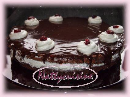 Gateau au chocolat et cranberry façon Forêt noire