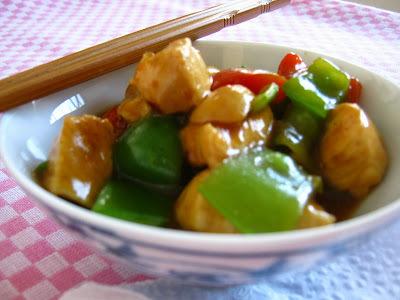 Frango com legumes agridoce - inspirações orientais