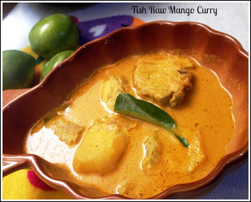 Fish Curry with  Raw Mango -Meen Manga Curry