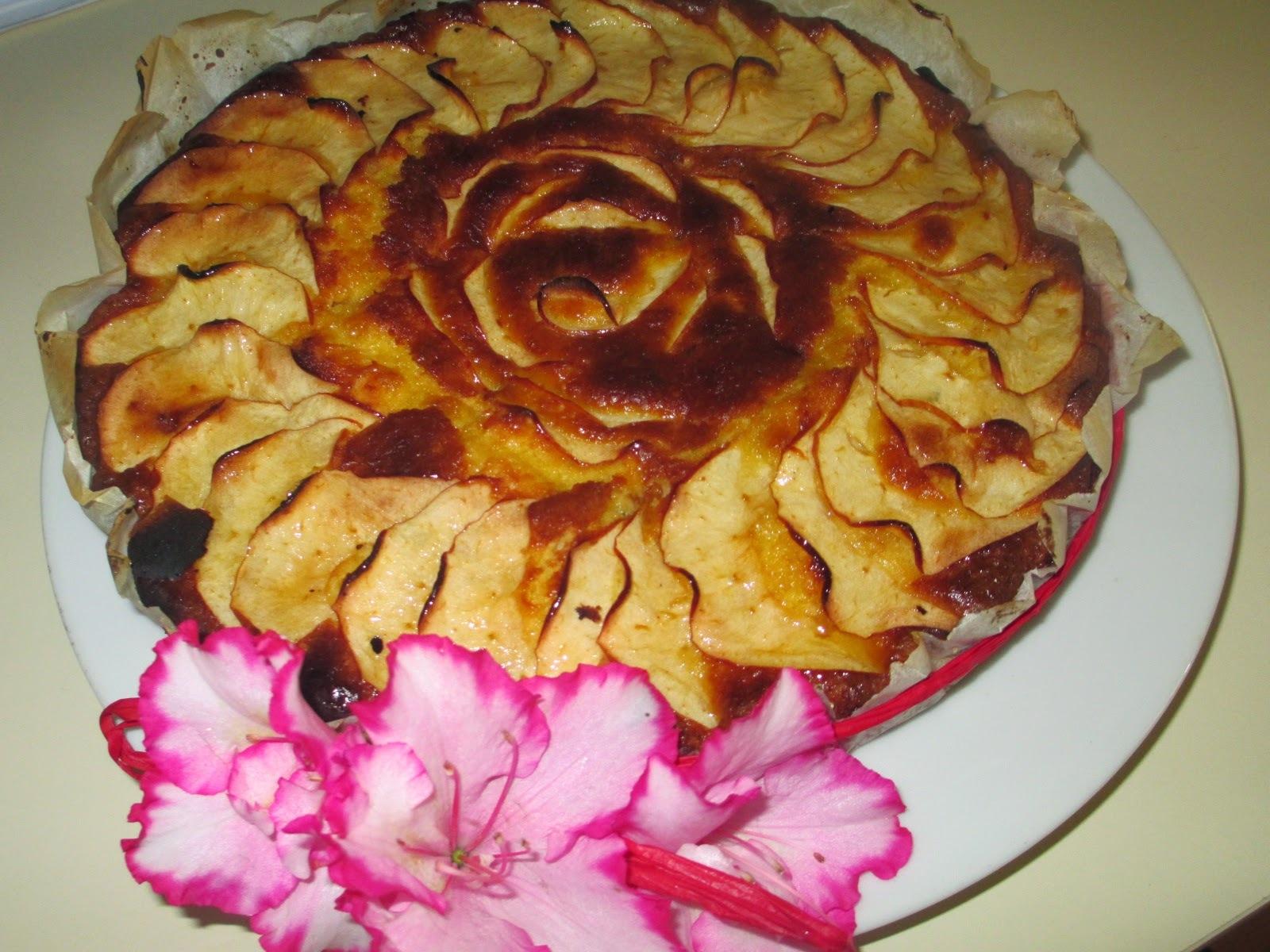 Bolo tarte de maçã, mel e limão super rápido
