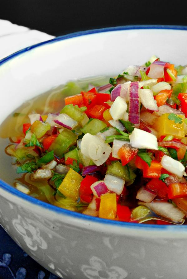 vinagreta de colores {de pimientos, cebolla y cilantro} y una ensalada #ponunaensalada