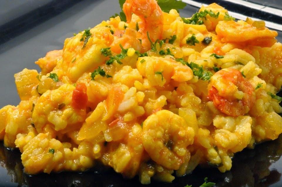 Receita de Salada de arroz e camarão