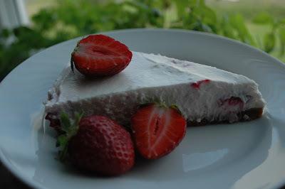 Nepečený tvarohový dort s ovocem (no.3)