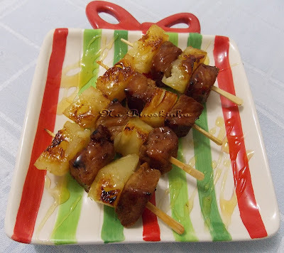 lombinho de porco assado com abacaxi