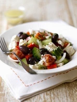 Receta de ensalada griega facil (la version original)