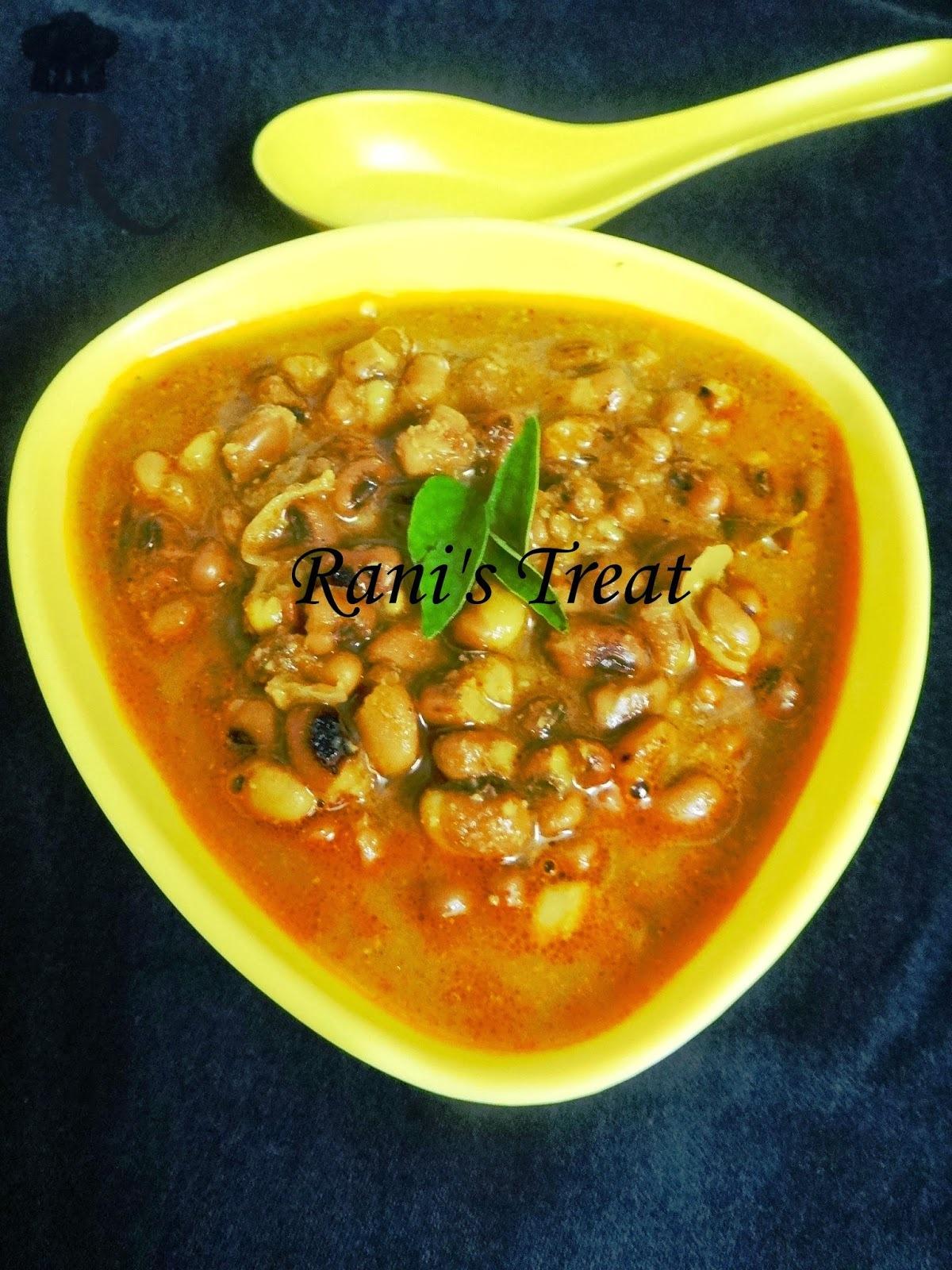 Thatta Payaru Thanni Kuzhambu ( Karamani/ Cowpea Gravy)
