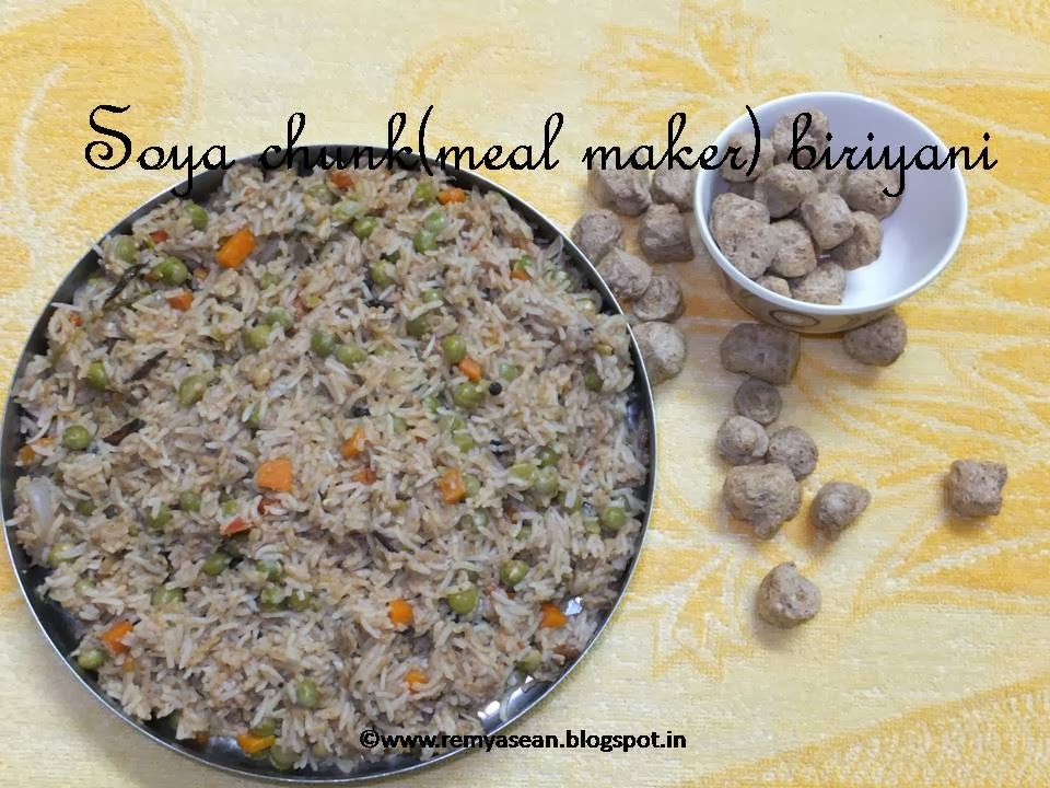 Soya chunks(meal maker) biriyani