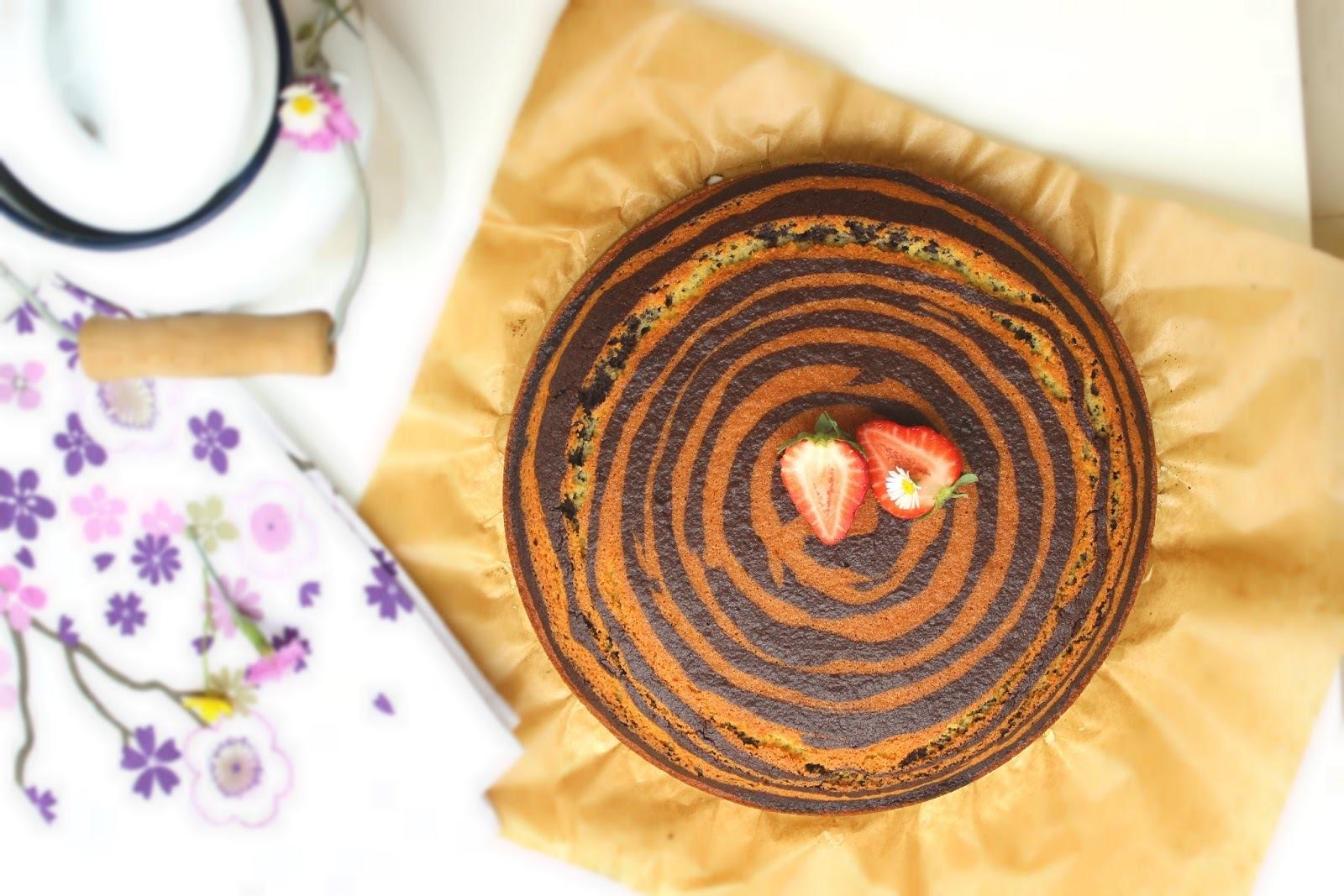 Zebra kolač - Lorraine Pascale / Zebra Cake
