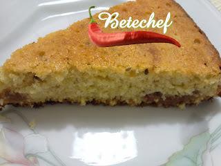 bolo de fuba com milharina e maizena