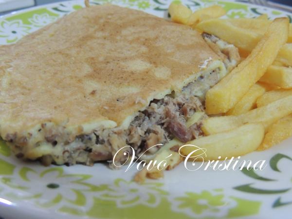 omelete de sardinha com farinha de trigo