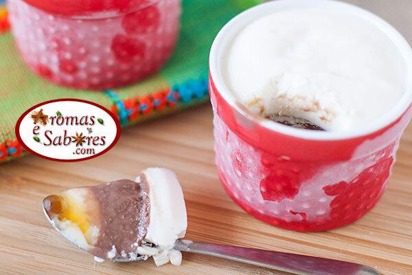 de pavê de sorvete de creme e nozes