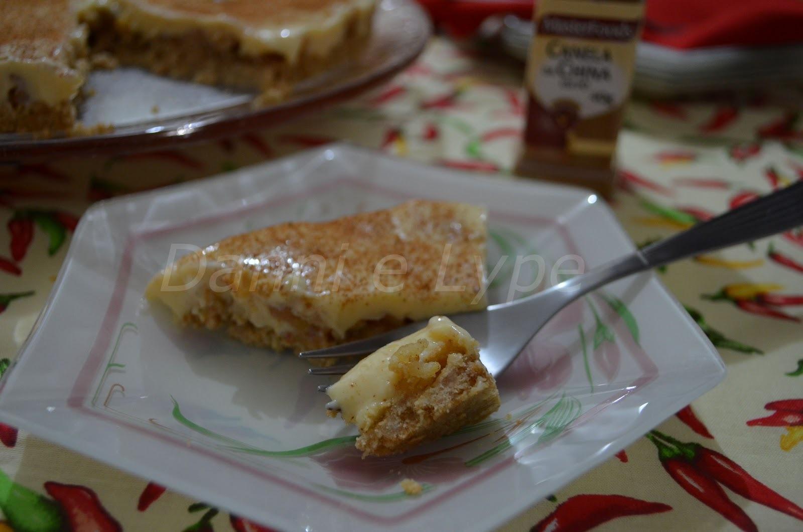 caminho do campo de torta de maçã com farofa
