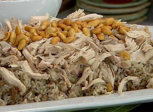 de arroz marroquino com grão de bico