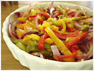 Salada de Pimentões e Cebola Assada