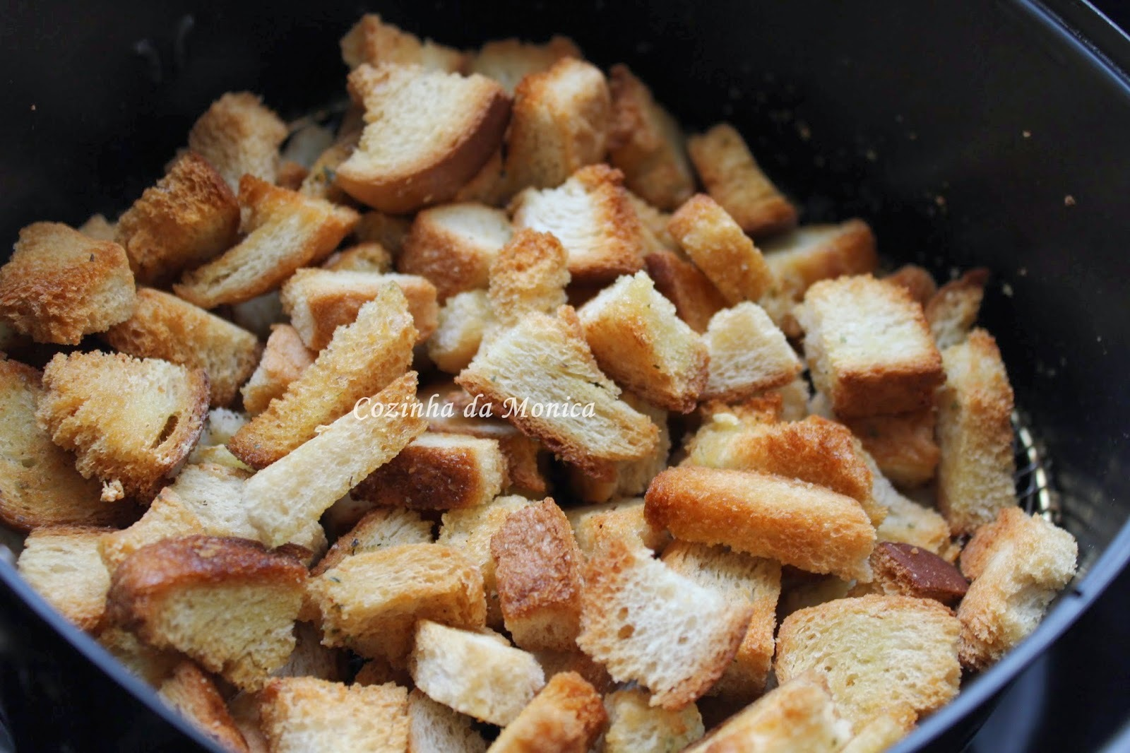 Croutons na airfryer.