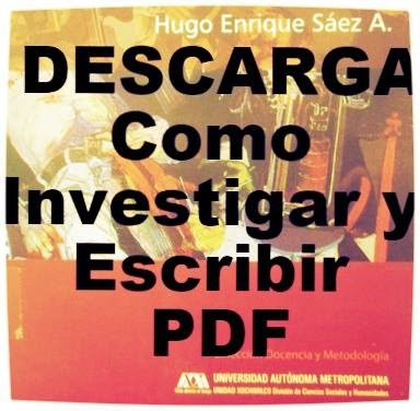 Como Investigar y Escribir en Ciencias Sociales DESCARGA PDF.