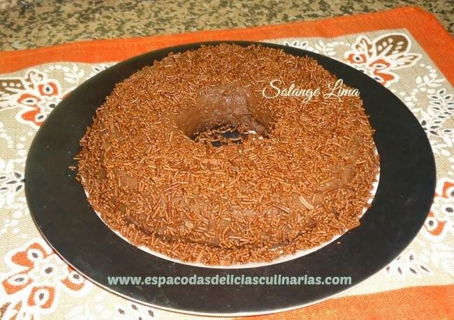 Pudim de chocolate de microondas
