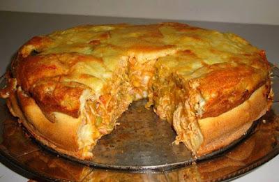 Torta salgada de liquidificador