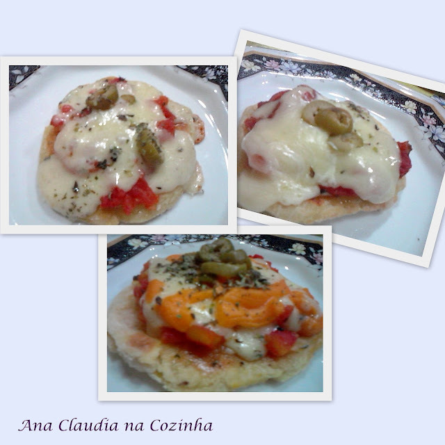 mini pizza com massa de batata