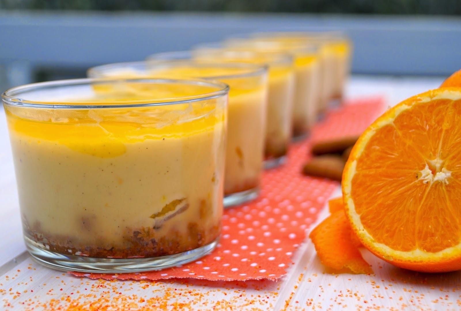 Crème douce à l'orange sur lit de specculoos