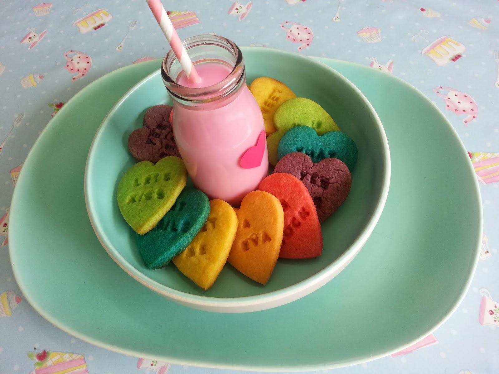 Rainbow Valentines Love - from Kiwicakes Test Kitchen