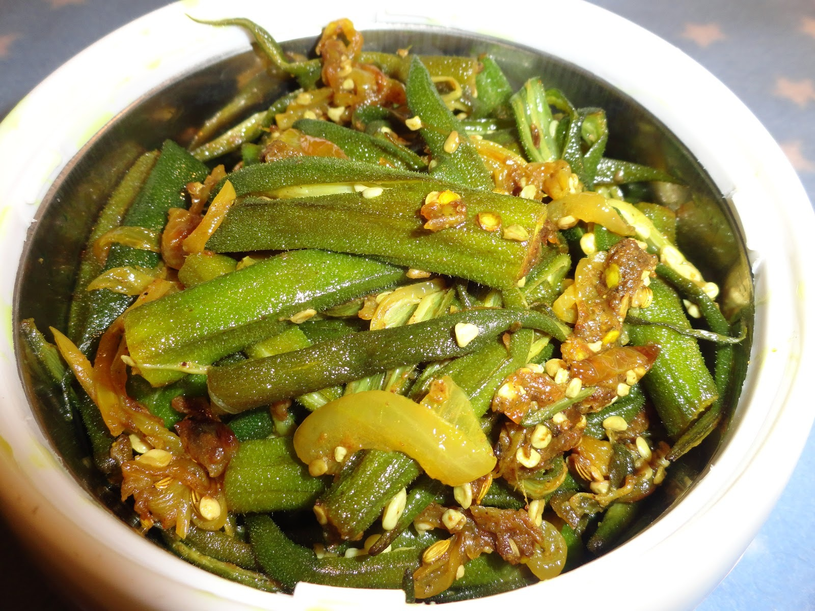 Spicy Bhindi fry/Spicy Okra fry/Spicy Lady's finger fry