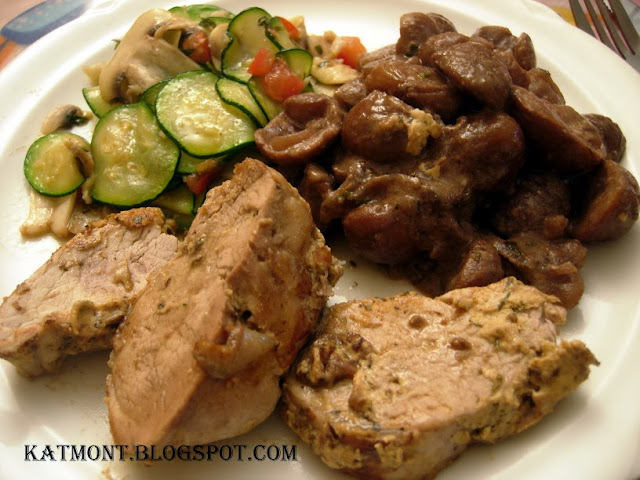 Filé mignon de porco com castanhas - Filet mignon de porc aux châtaignes