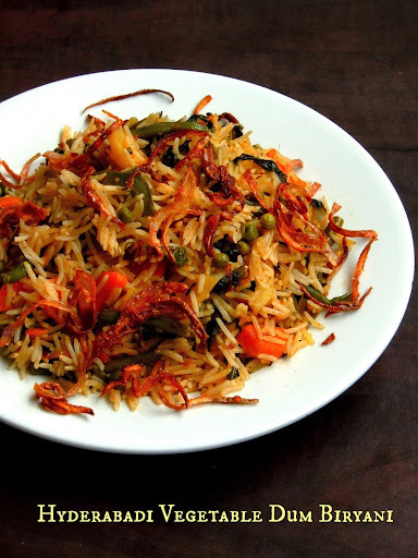 Hyderabadi Vegetable Dum Biryani ~~ SN Challenge