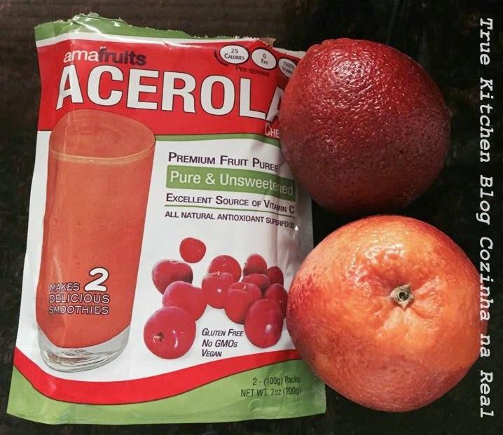 Suco Vermelho de Laranja e Acerola