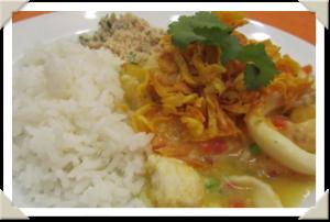 Bobó de Mandioquinha e Curry Verde