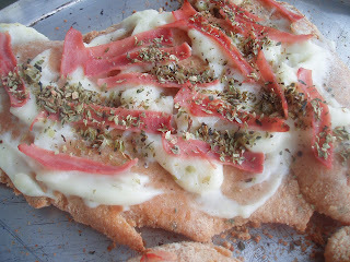 Almoço em casa - Frango à parmiggiana e Frango ao catupiry
