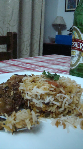 Sunday Dum Chicken Biryani and Cold beer
