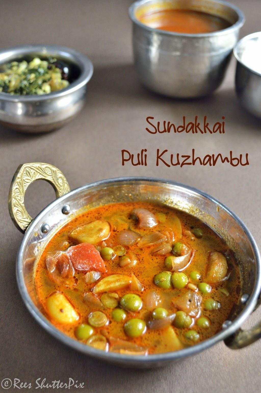 Sundakkai Puli Kuzhambu Recipe | Turkey Berry Tamarind Curry Recipe | Side Dish for Rice