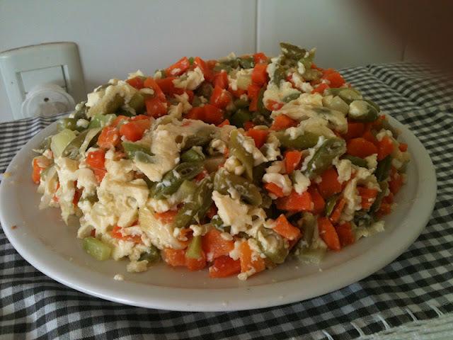 Era para ser um bolo de legumes...