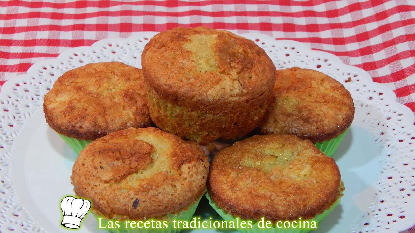 Magdalenas rellenas de manzana receta fácil y casera