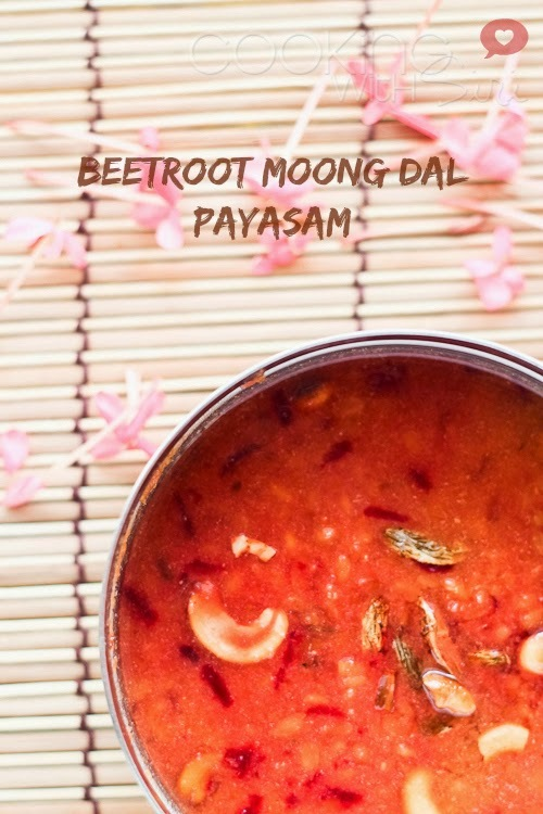 [Ugadi Special Recipe] Beetroot Moong Dal Payasam (Kheer) | Pesarapappu (Pasi Paruppu) Payasam