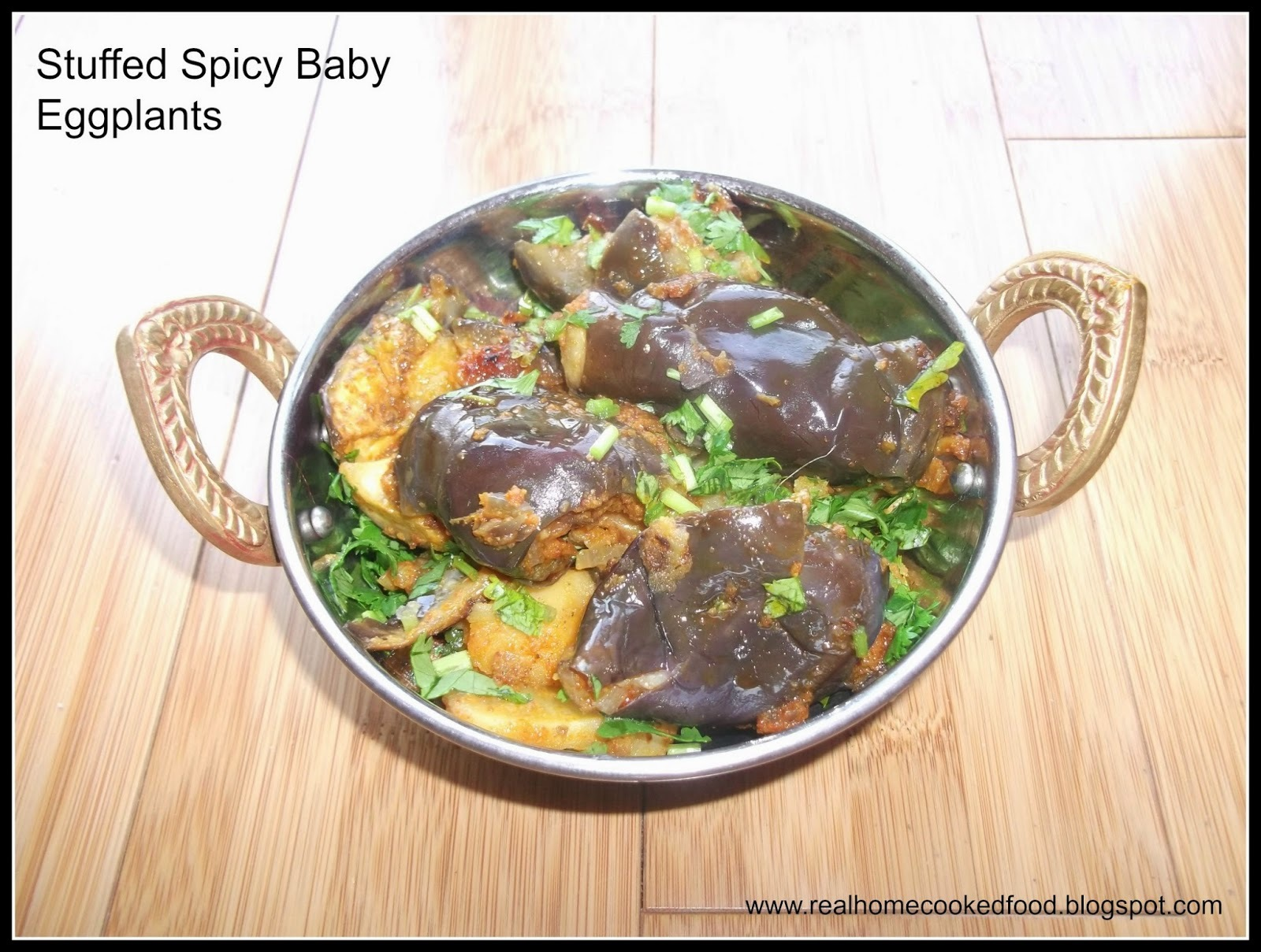 Stuffed Spicy Baby Eggplants