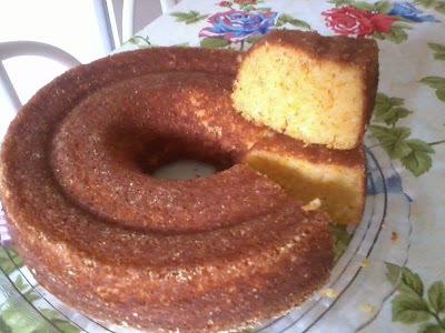 bolo de milharina fofinho e molhadinho de liquidificador
