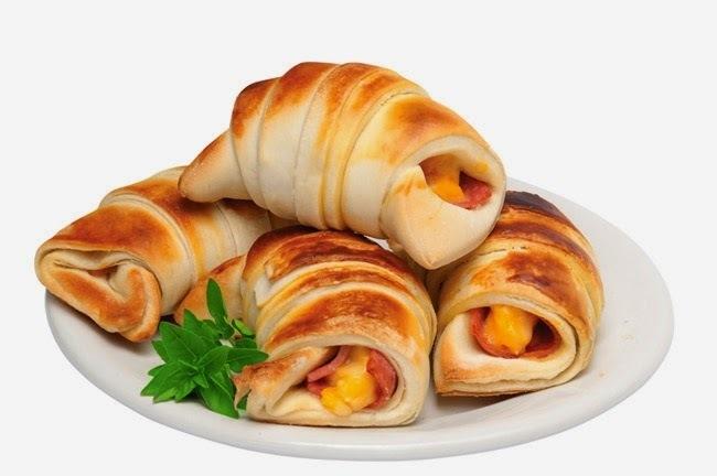 Croissants Presunto e Queijo