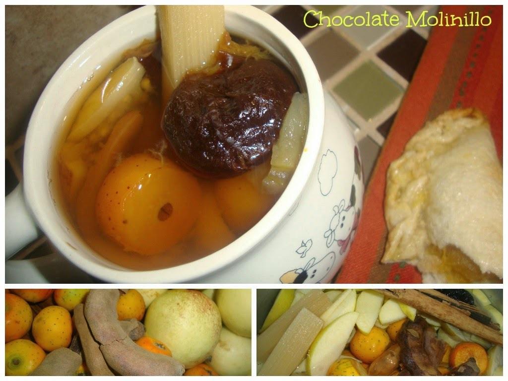 Ponche de Frutas Navideño al estilo Chocolate Molinillo