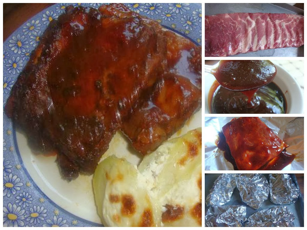 Costillitas a la Barbecue con salsa Carolina Honey's