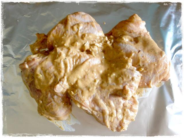 Pečené kuracie stehná v horčicovej marináde