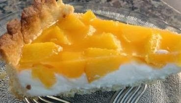 Torta gelada de pêssego