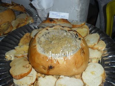 Pastas variadas servidas no pão italiano - ANIVERSÁRIO DO FRANCISCO - evento realizado por mim em Salvador, no dia 09/11/2011